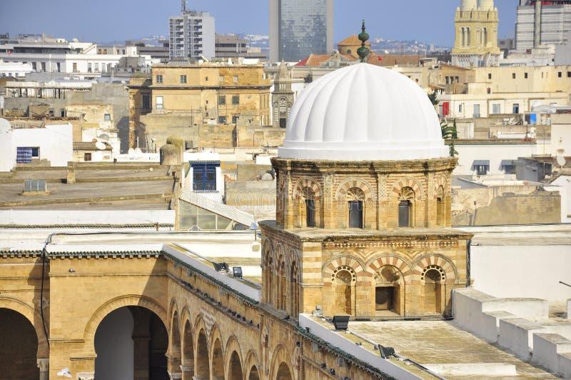 Visión sobre el medina Túnez, bóveda de la mezquita foto de archivo libre de regalías
