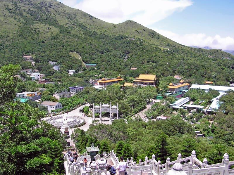 Visión sobre el Ngong Ping Plateau foto de archivo libre de regalías