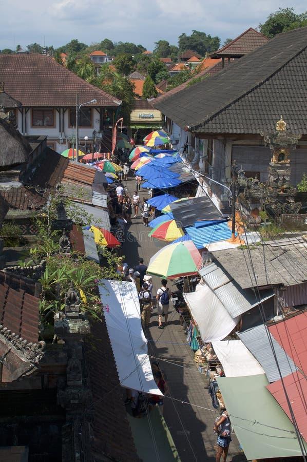 Visión sobre el Ubud Art Market en Bali imágenes de archivo libres de regalías
