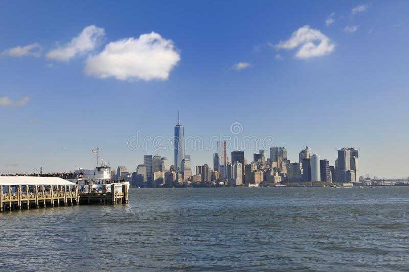 Visión sobre Manhattan imagenes de archivo