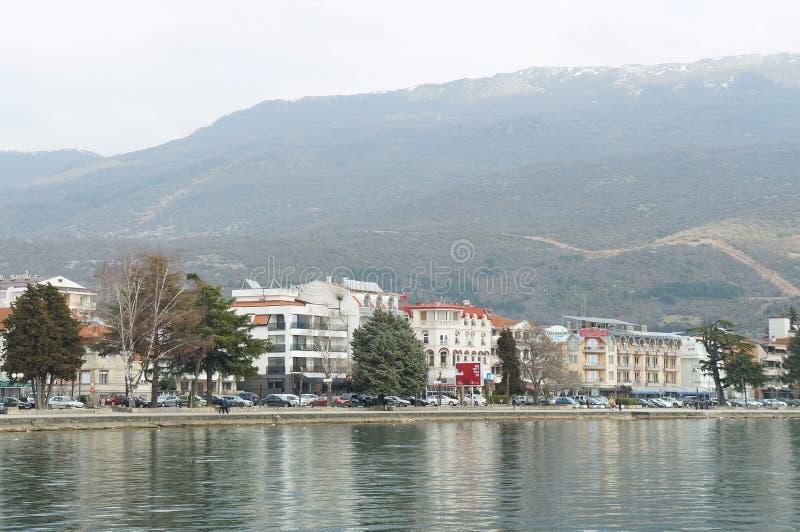 Visión sobre Ohrid del lago fotografía de archivo libre de regalías