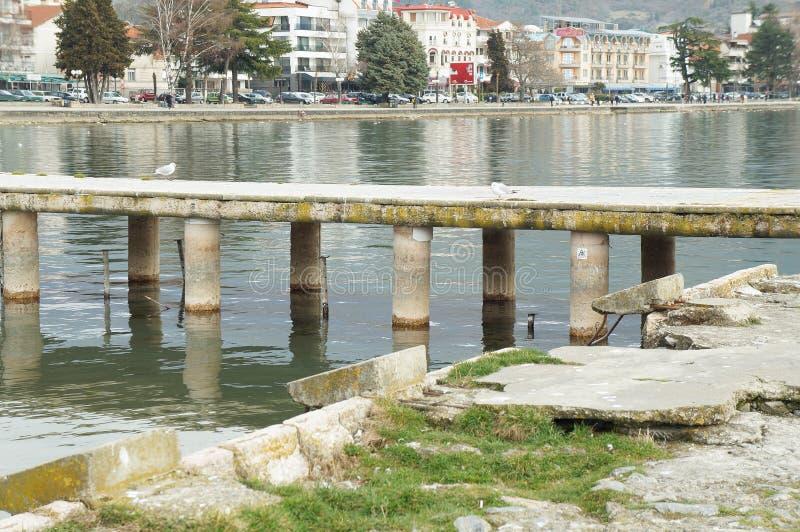 Visión sobre Ohrid del lago fotos de archivo