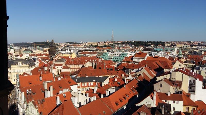 Visión sobre Praga imágenes de archivo libres de regalías