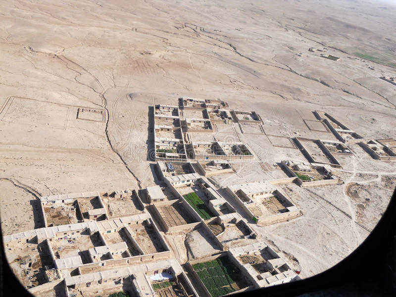 Visión sobre una aldea en Afganistán imagen de archivo