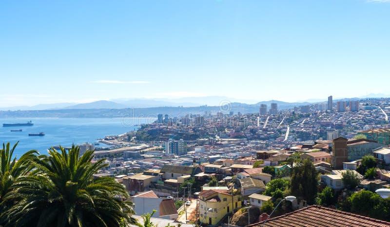 Visión sobre Valparaiso fotografía de archivo