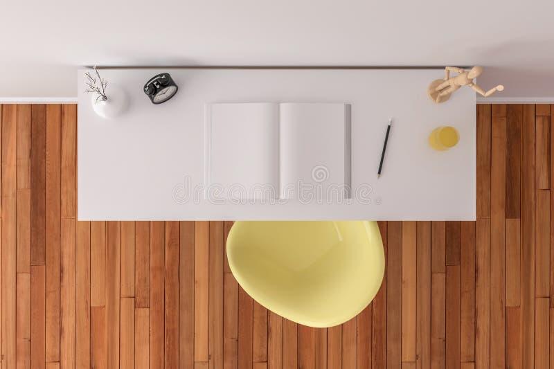 Visión superior de escritorio - mofa para arriba foto de archivo