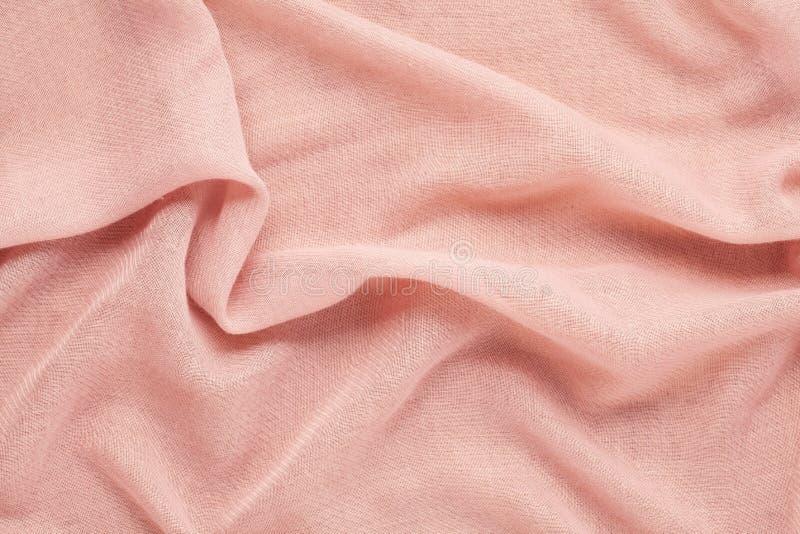 Visión superior sobre textura rosada de lana suave del textil imagen de archivo libre de regalías