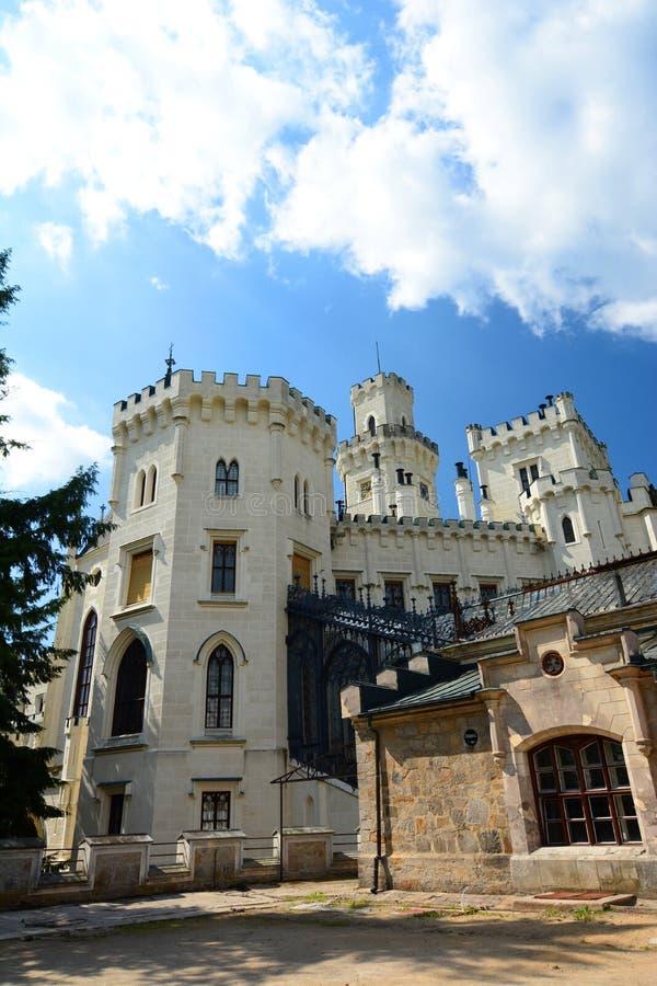 Visión trasera Castillo del ¡de Hlubokà ¡Nad Vltavou de Hlubokà República Checa imágenes de archivo libres de regalías