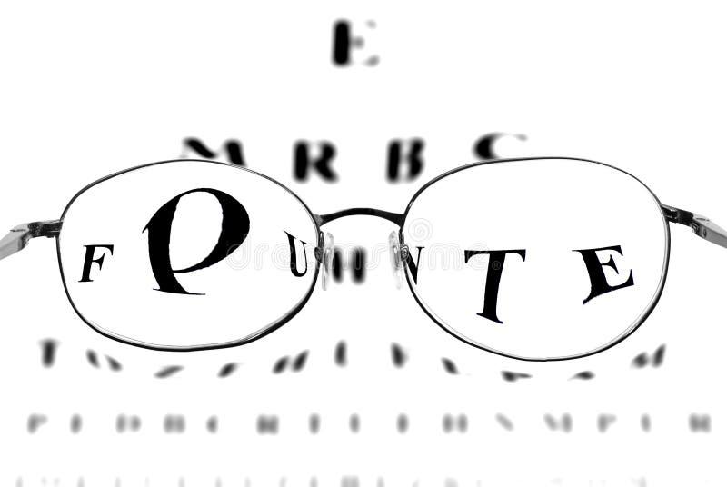 Visión a través de los vidrios imagen de archivo