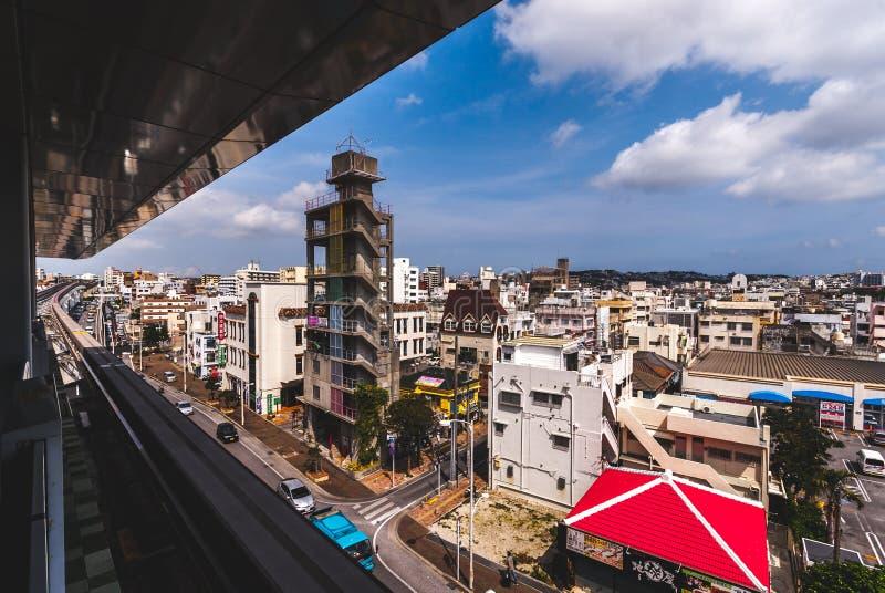 Visión a través de Naha, Okinawa imagen de archivo