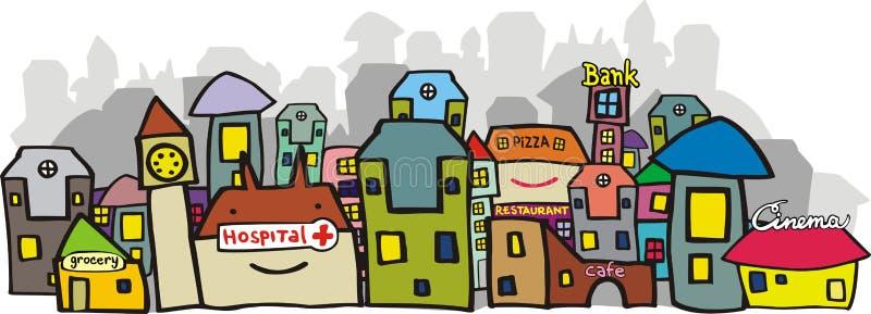 Download Visión urbana. ilustración del vector. Ilustración de común - 7282007