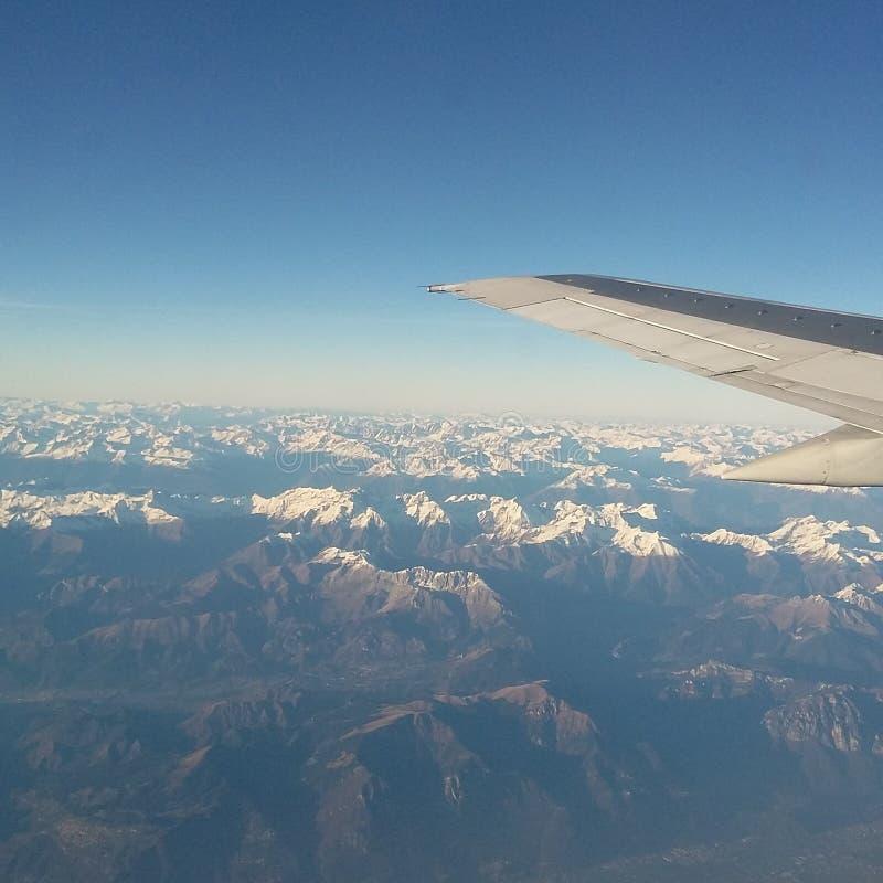 Visiónes desde el avión imagen de archivo