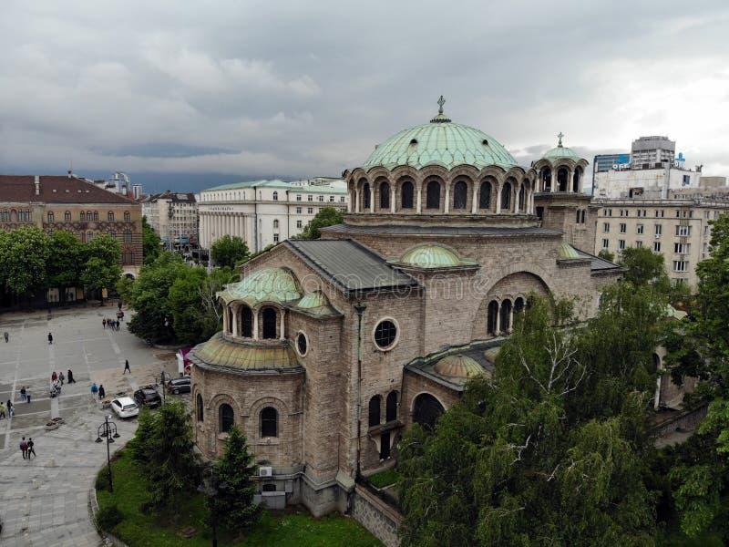 Visi?n desde arriba Gran capital de Bulgaria, perla de Balcanes - Sofía Lugar de la cultura, de la religión y de tradiciones Foto fotografía de archivo libre de regalías