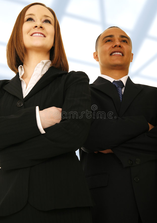 Visibilité d'équipe d'affaires regardant vers l'avant photos libres de droits
