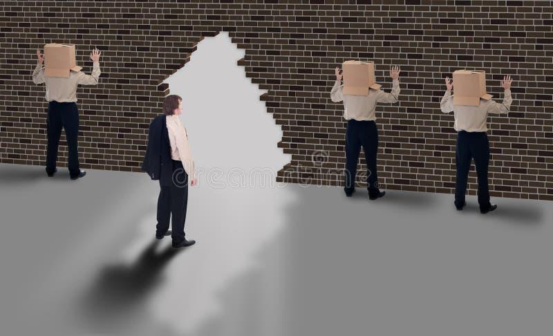 Visibilité d'affaires - concept d'hublot de possibilité photos libres de droits