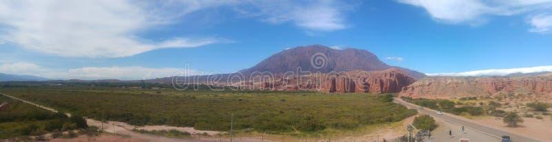 Visibilité directe Colorados de Cafayate Salta Argentine photo stock