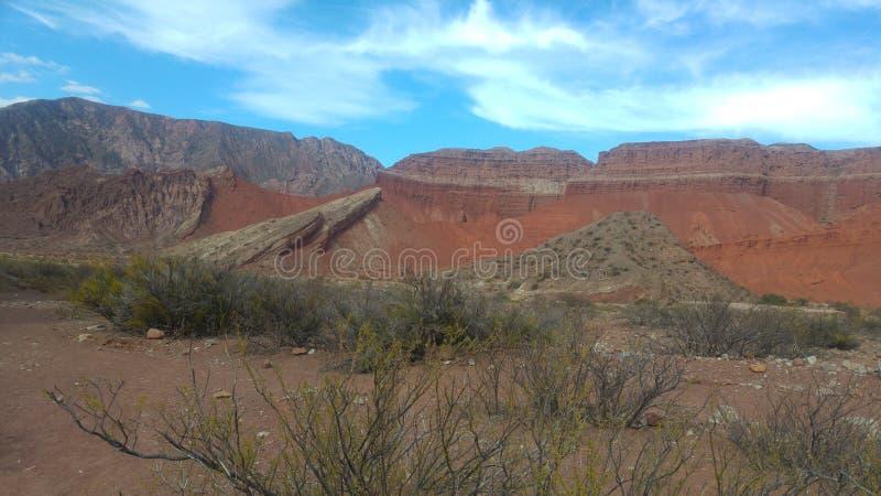 Visibilité directe Colorados de Cafayate Salta Argentine image libre de droits