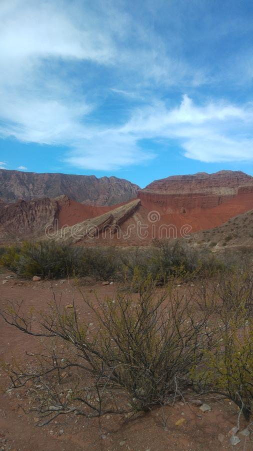 Visibilité directe Colorados de Cafayate Salta Argentine photo stock