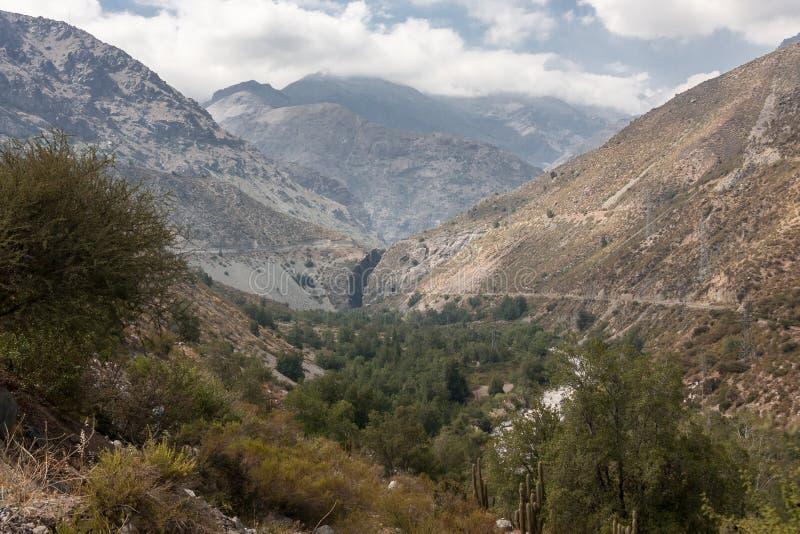 Visibilité directe les Andes Chili de Cordillère De photographie stock libre de droits