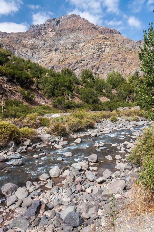 Visibilité directe les Andes Chili de Cordillère De photo stock