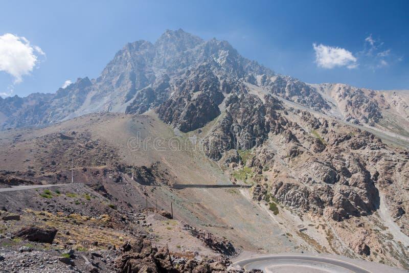 Visibilité directe les Andes Chili de Cordillère De images stock