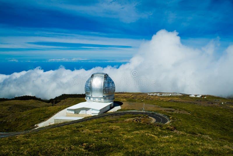 Visibilité directe Muchachos d'Observatorio del Roque De photo libre de droits