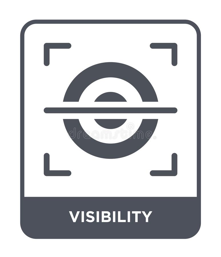 visibility icon in trendy design style. visibility icon isolated on white background. visibility vector icon simple and modern royalty free illustration