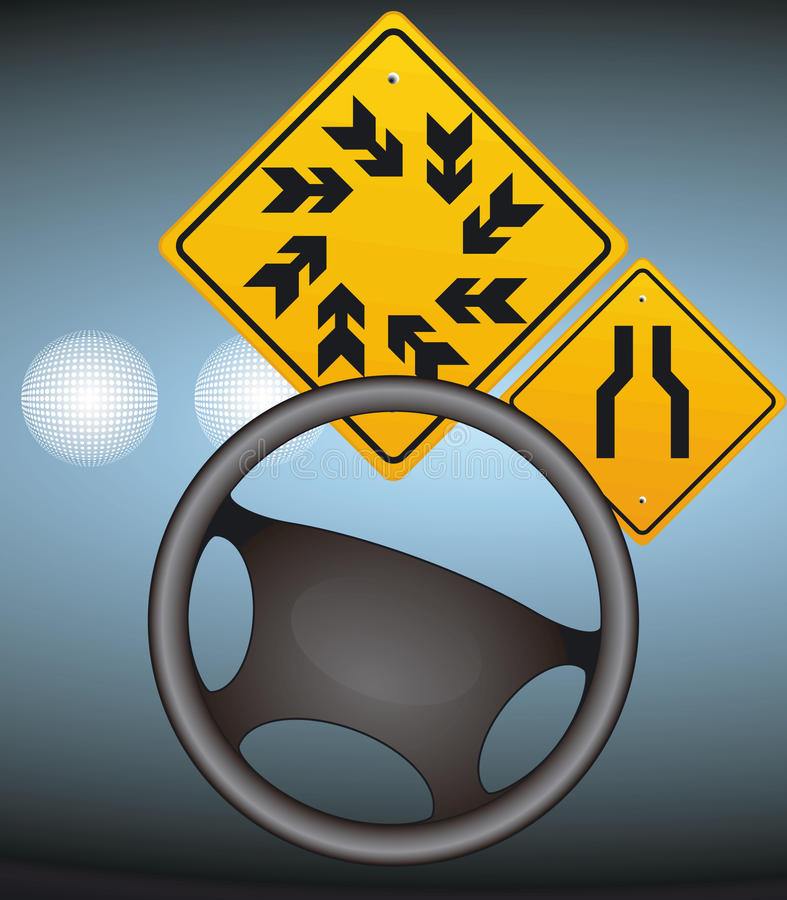 Download Visible in the fog stock illustration. Image of traffic - 14225186