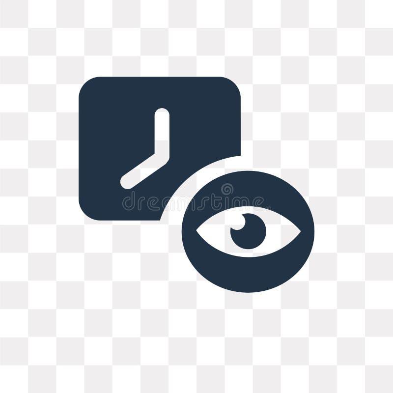 Visie vectordiepictogram op transparante achtergrond, Visie t wordt geïsoleerd stock illustratie