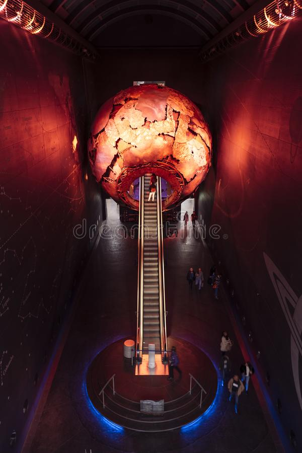 Visies van Aarde, Biologiemuseum stock foto's