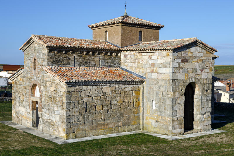 Visigoth San Pedro de la Nave El Campillo, municipality of San Pedro de la Nave Almendra province of Zamora Spain. Declared Natio. Church Visigoth San Pedro de stock photo