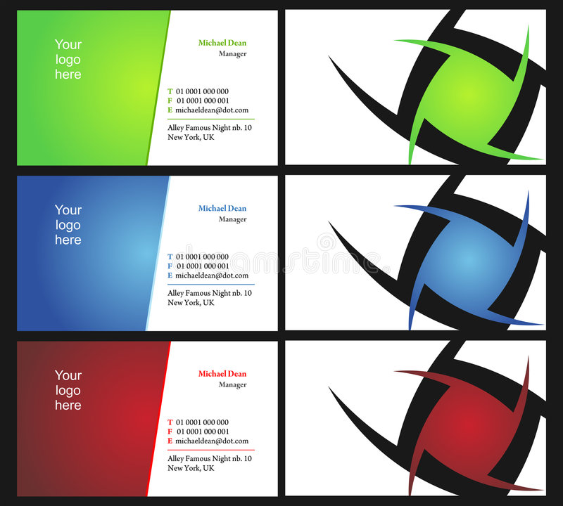Vising cards - two sided - 12 vector illustration