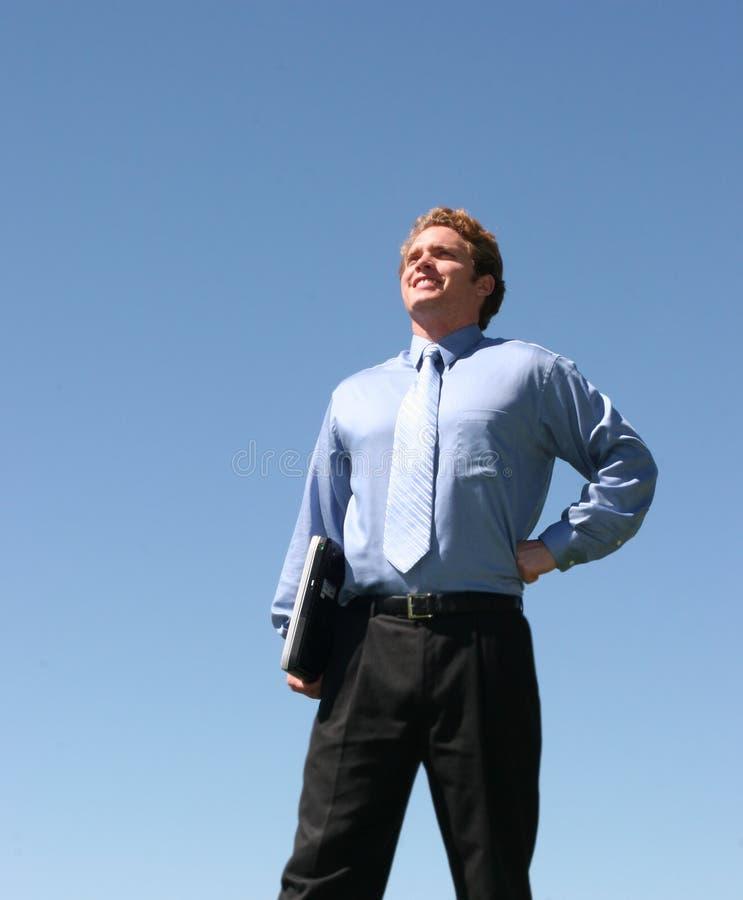 Download Visionär för affärsman arkivfoto. Bild av ekonomi, laptop - 234136