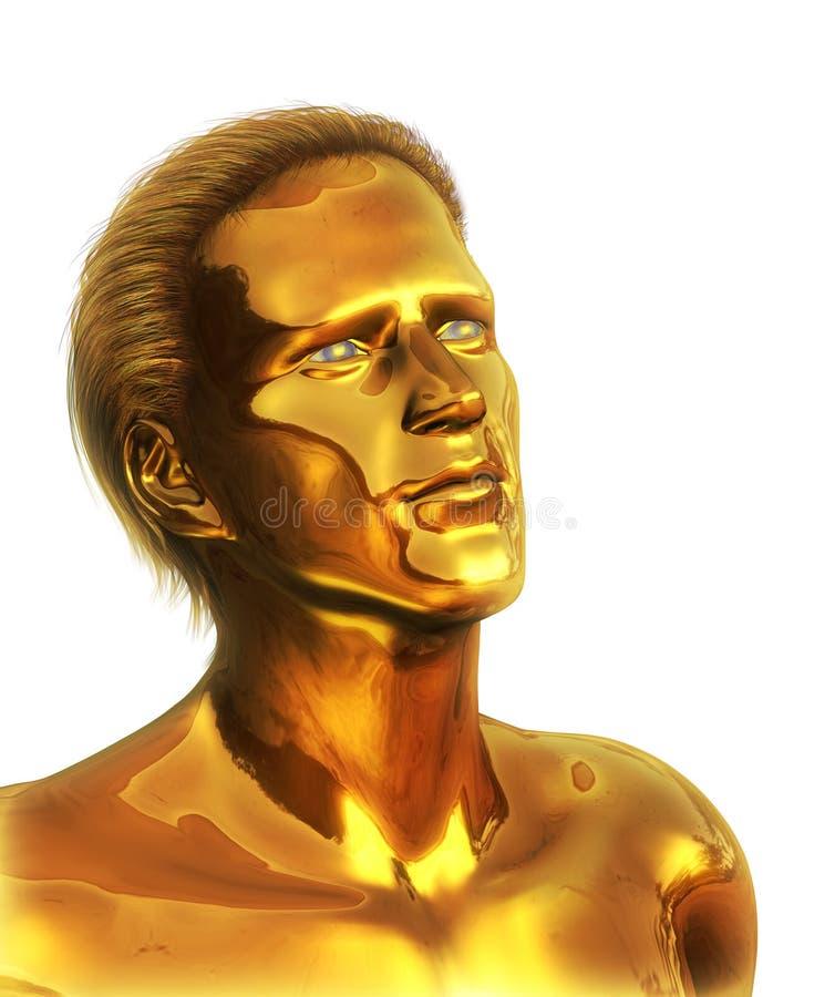 Visionär - goldener Mann lizenzfreie abbildung