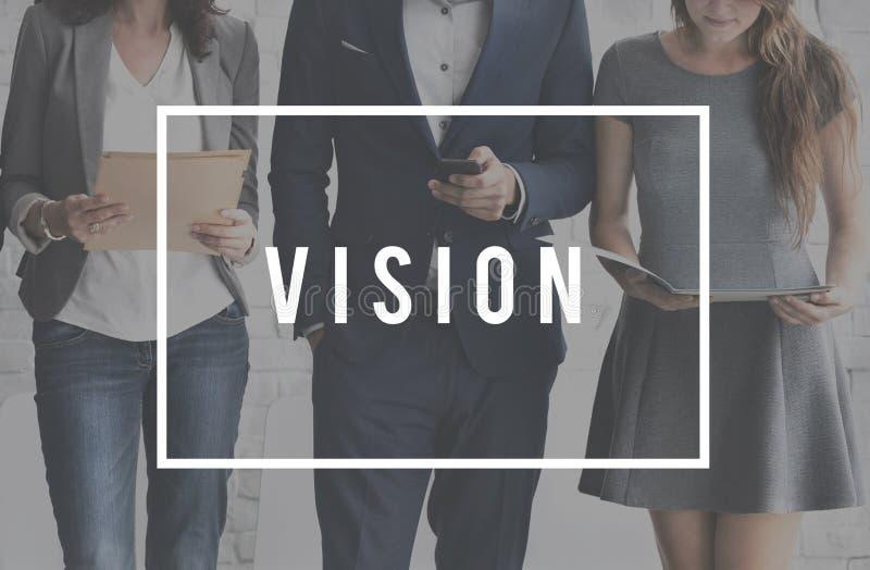 Visionärt imaginärt Expection för vision begrepp fotografering för bildbyråer