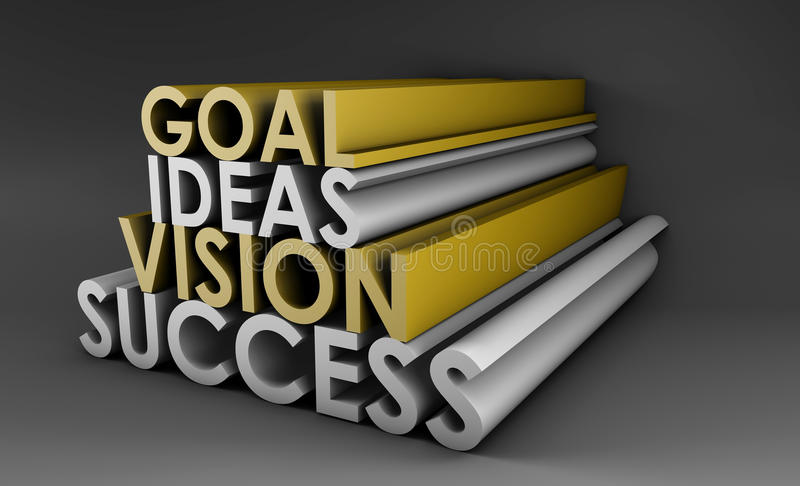 Vision. Success From Goal and Idea in 3d stock illustration