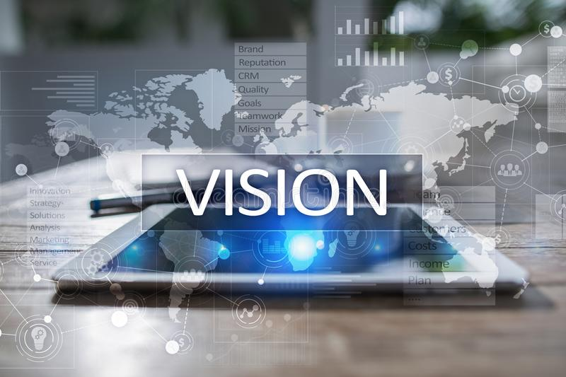 Vision concept. Business, Internet and technology concept. Vision concept. Business, Internet and technology concept stock image