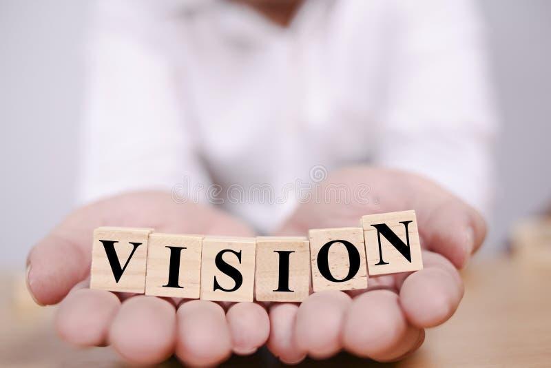 Vision, concept de motivation de citations de mots photos stock