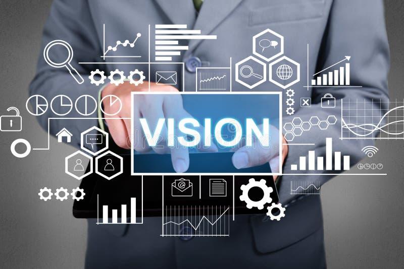 Vision, concept de motivation de citations de mots images libres de droits