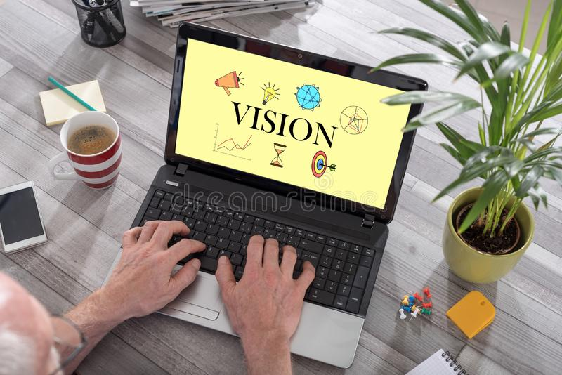 Vision concept on a laptop royalty free stock photo