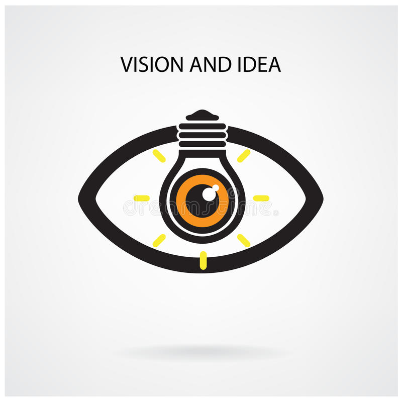 Vision and creative light bulb idea concept , eye symbol royalty free illustration