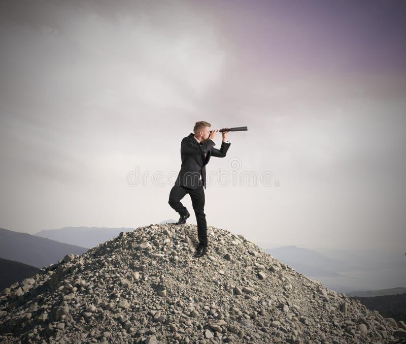 Vision d'affaires photographie stock libre de droits