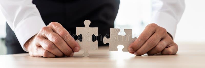 Vision d'affaires et concept de solution photo stock