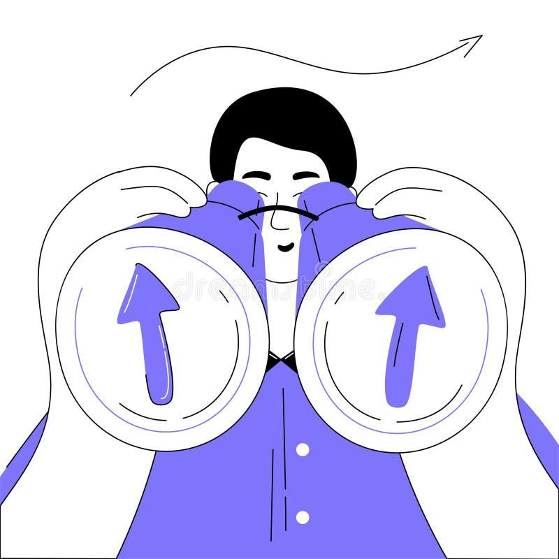 Vision d'affaires - illustration plate colorée moderne de style de conception illustration libre de droits