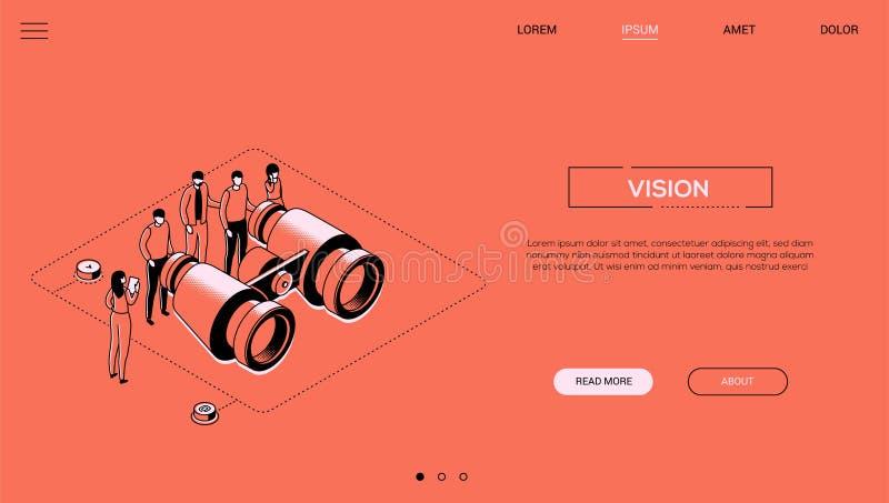 Vision d'affaires - ligne bannière isométrique de Web de style de conception illustration libre de droits