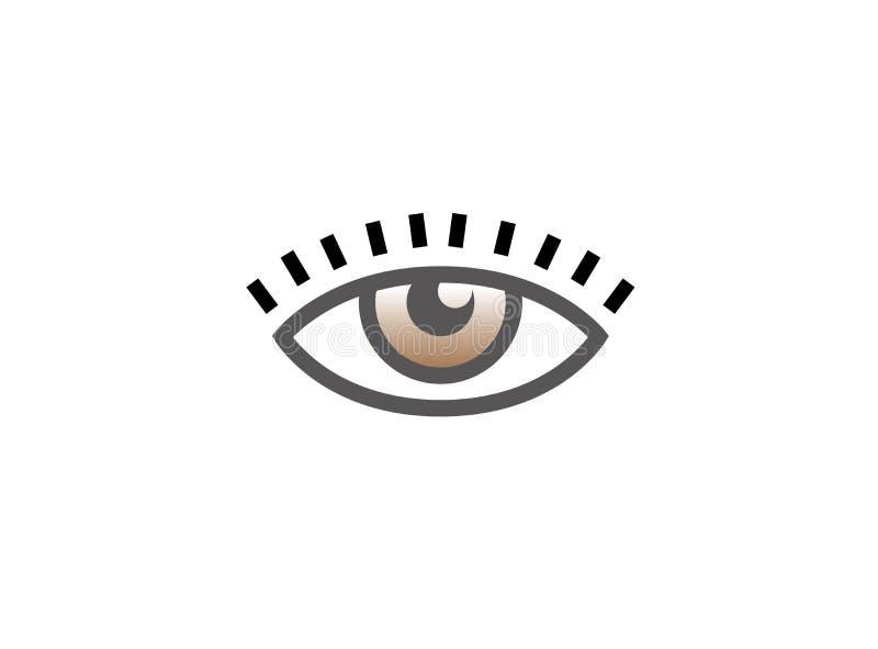 Vision d'oeil avec des cils pour la conception de logo illustration stock