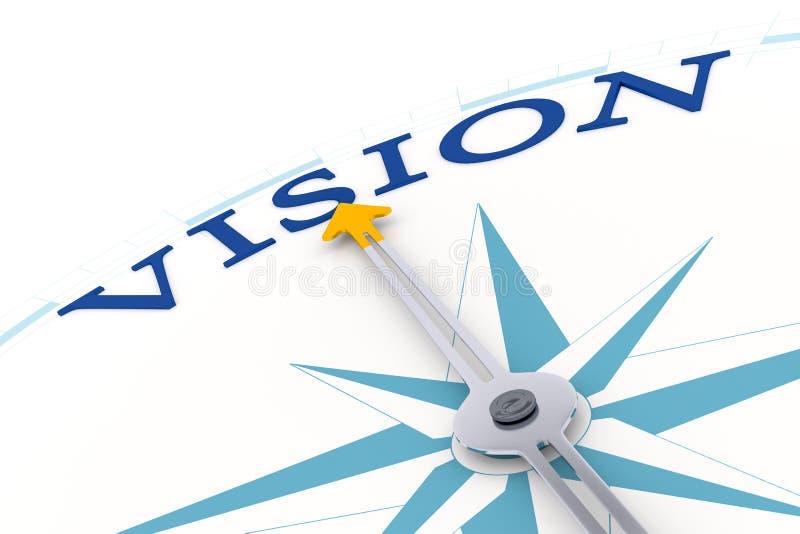 Vision de boussole illustration stock