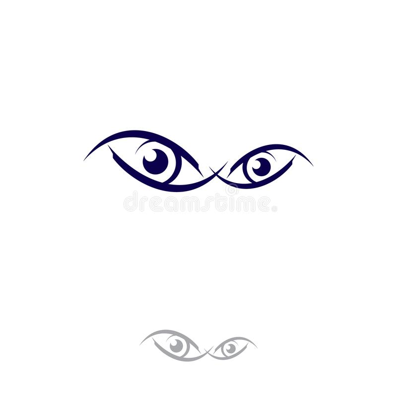 Vision de cercle de calibre de conception de yeux illustration de vecteur