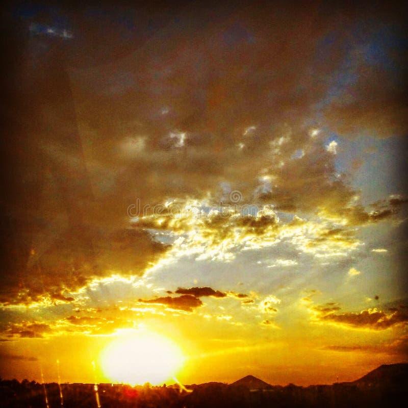 Vision de coucher du soleil image libre de droits
