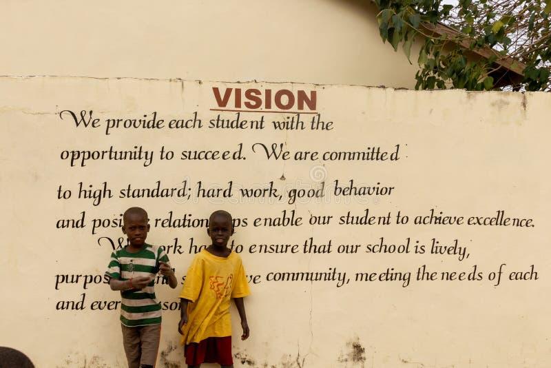 Vision de la escuela en Gambia foto de archivo libre de regalías